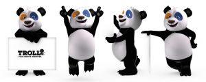 Mascotte 3d de panda pour la société Veka.