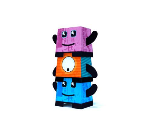 Des mascottes en papier 3D.