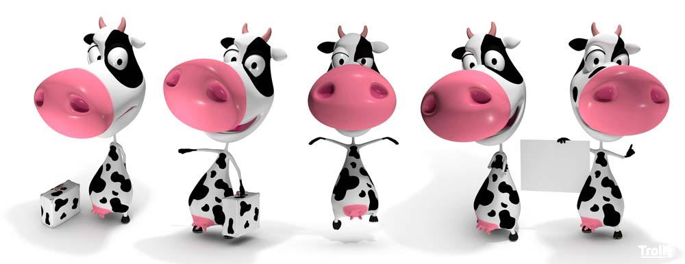 Mascotte 3D vache