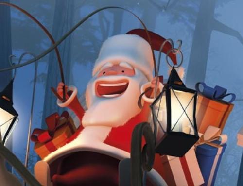 Père-Noël et traineau